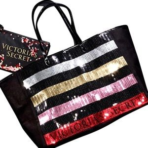NWOT Victoria's Secret Sequin Bling tote bag